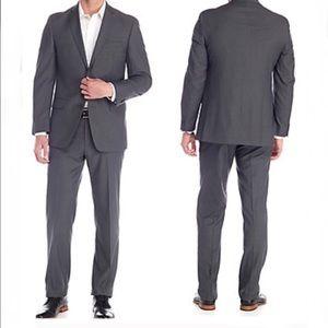 Michael kors suit jacket 44 pant 37 KEVI2 gray